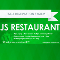 JS Restaurant table reservation plugin