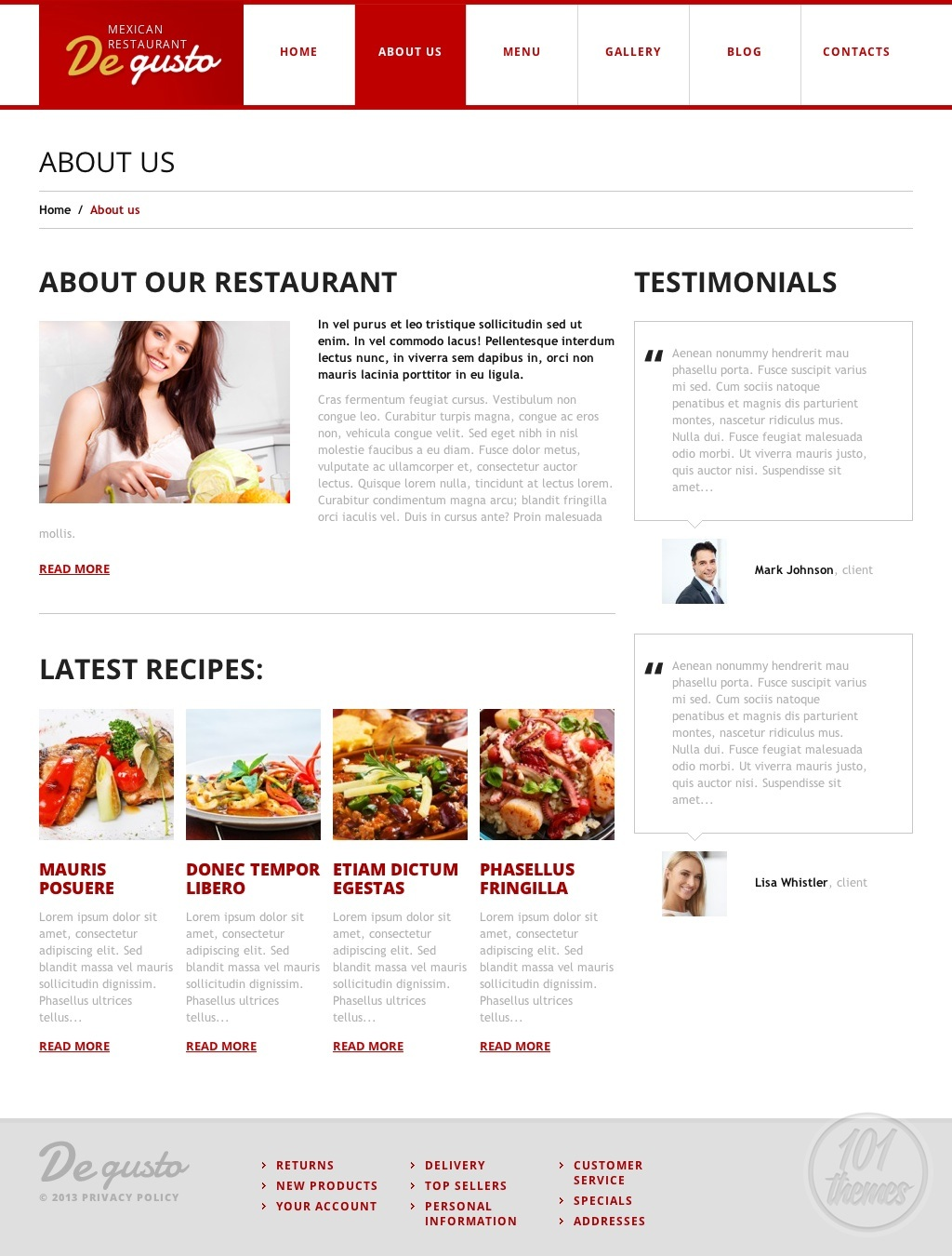 de gusto review a wordpress restaurant theme by template. Black Bedroom Furniture Sets. Home Design Ideas