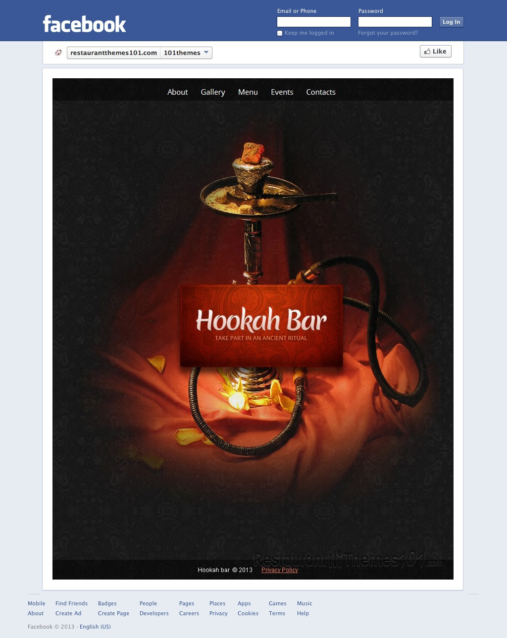 hookah bar review a facebook restaurant page template by template monster. Black Bedroom Furniture Sets. Home Design Ideas