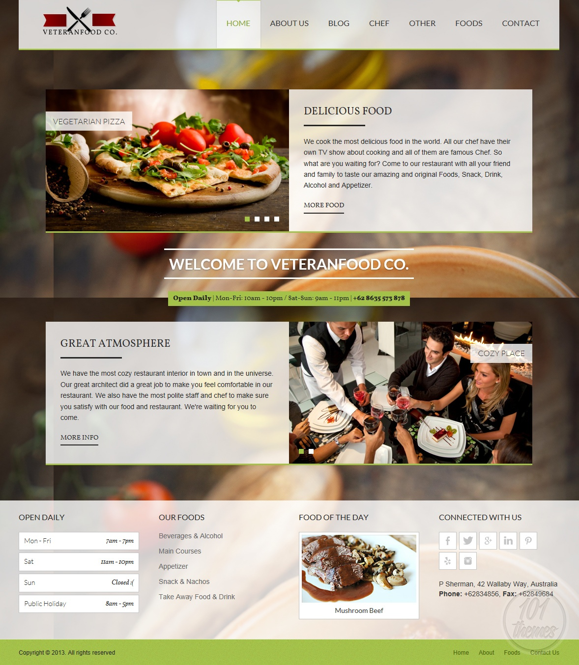 Veteranfood Review, A HTML Restaurant Template By ThemeForest